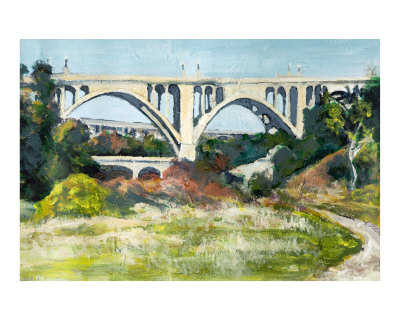 Bridge Over the Arroyo Seco, Acrylic on Canvas