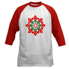 Red and green snowflake shirt on Cafe Press